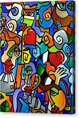 Abstract Art On Canvas Print - Side Show by Tom Fedro - Fidostudio