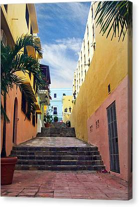 Canvas Print featuring the photograph Side Street by John Rivera