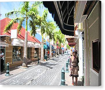 Canvas Print featuring the photograph Side Street by Michael Albright