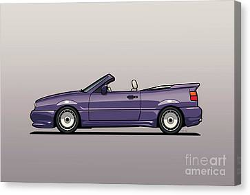 Sideview Of An Vw Corrado Convertible Conversion By German Aftermarket And Tuning Specialist Zender  Canvas Print by Monkey Crisis On Mars