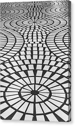 Sidewalk Abstract Canvas Print by Bill Gallagher