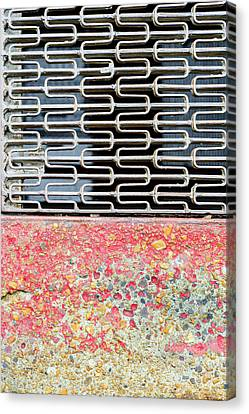 Sidewalk And Grate Canvas Print by KM Corcoran
