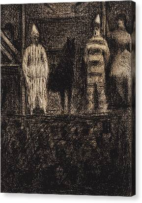 Seurat Canvas Print - Sidewalk Show by Georges-Pierre Seurat