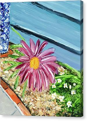 Sidewalk View Canvas Print