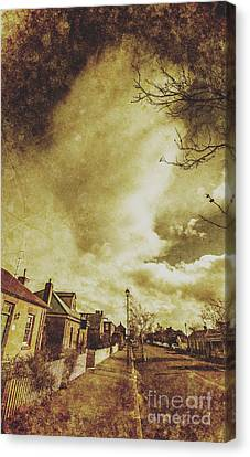 Sidewalks And Paper Villages Canvas Print by Jorgo Photography - Wall Art Gallery