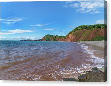 Canvas Print featuring the photograph Sidmouth Jurassic Coast by Scott Carruthers