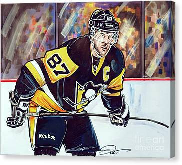 Sidney Crosby 2016 Nhl Stanley Cup  Playoffs Canvas Print by Dave Olsen