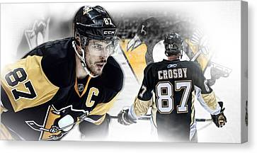 Ipad Poster Kids Art Canvas Print - Sidney Crosby Artwork by Nicholas Legault