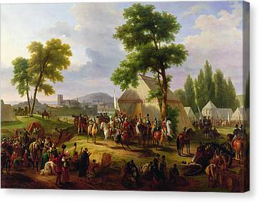 Siege Of Paris By Henri Iv Canvas Print by Guillaume Frederic Ronmy