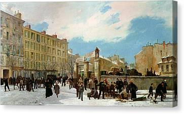 Siege Of Paris Canvas Print by Jacques Guiaud