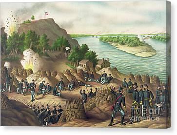Siege Of Vicksburg Canvas Print by American School