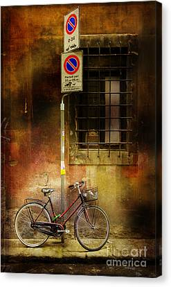 Siena Bicycle Canvas Print by Craig J Satterlee