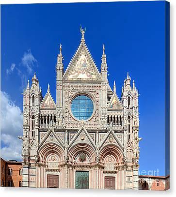 Siena Cathedral, Duomo Di Siena In Siena, Italy Canvas Print by Michal Bednarek