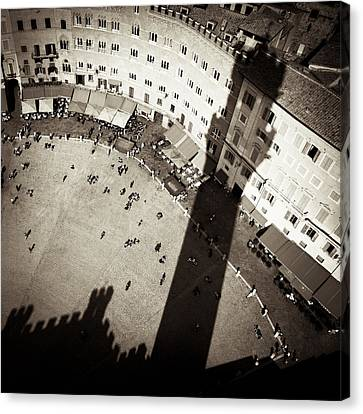 Siena From Above Canvas Print by Dave Bowman