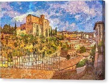 Siena , Italy Canvas Print by Nikolay Ivanov