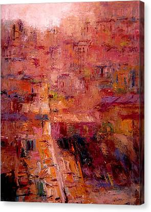Sienese Rooftops Canvas Print by R W Goetting