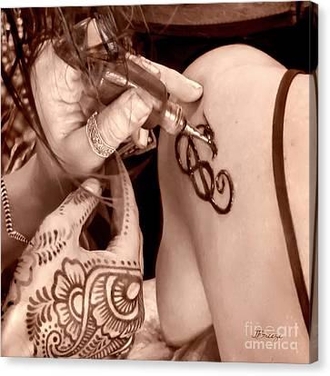 Sienna Henna Hands Canvas Print