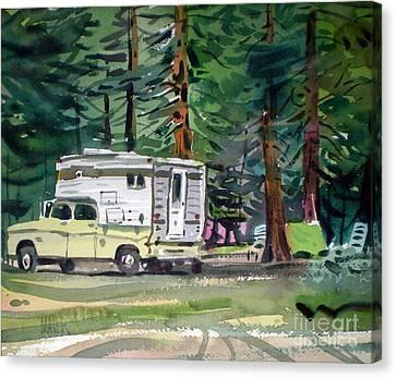 Sierra Campsite Canvas Print by Donald Maier