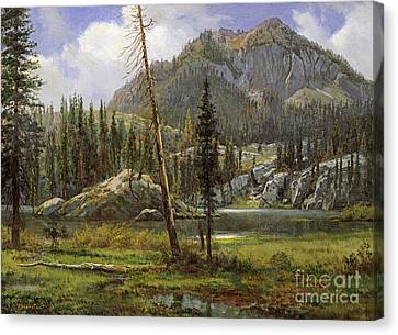 Sierra Nevada Mountains Canvas Print by Celestial Images