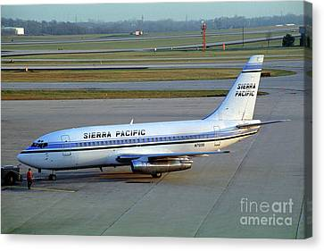 Sierra Pacific Airlines Boeing 737, N703s Canvas Print by Wernher Krutein