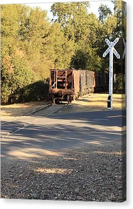 Sierra Railway Hoppers Canvas Print by Troy Montemayor