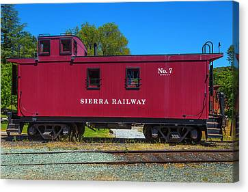Sierra Railway Red Caboose No 7 Canvas Print