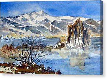 Canvas Print featuring the painting Sierra View by Pat Crowther