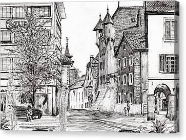Sierre, Switzerland Canvas Print by Vincent Alexander Booth