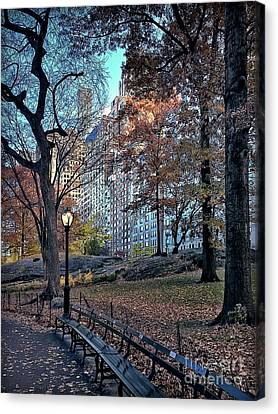Canvas Print featuring the photograph Sights In New York City - Central Park by Walt Foegelle