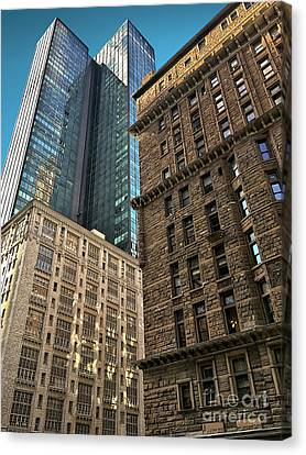 Canvas Print featuring the photograph Sights In New York City - Old And New 2 by Walt Foegelle