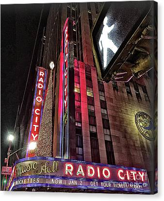 Canvas Print featuring the photograph Sights In New York City - Radio City by Walt Foegelle