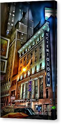 Canvas Print featuring the photograph Sights In New York City - Scientology by Walt Foegelle