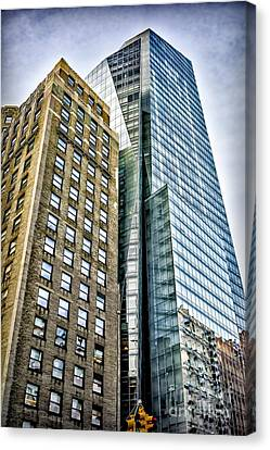 Canvas Print featuring the photograph Sights In New York City - Skyscrapers by Walt Foegelle