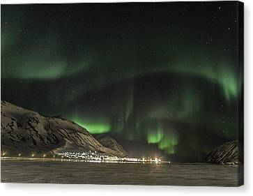 Canvas Print featuring the photograph Siglufjordur by Frodi Brinks