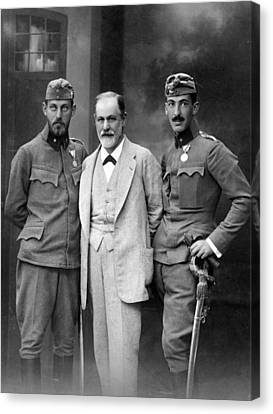 Sigmund Freud 1856-1939, With His Sons Canvas Print by Everett
