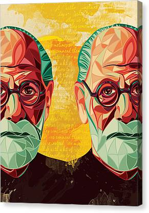 Freud Canvas Print - Sigmund Freud  by Fulya Hocaoglu