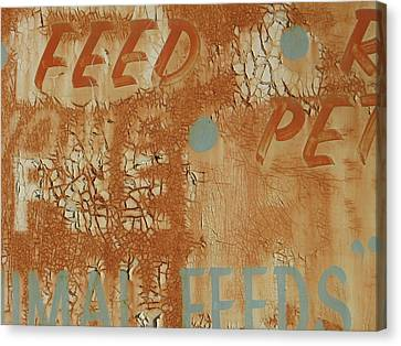 Sign Abstract Canvas Print by Billy Tucker