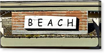 Sign Of A Beach Canvas Print