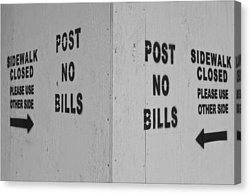 Sign Of The Times Canvas Print by Robert Ullmann