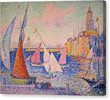 Signac: St. Tropez Harbor Canvas Print by Granger