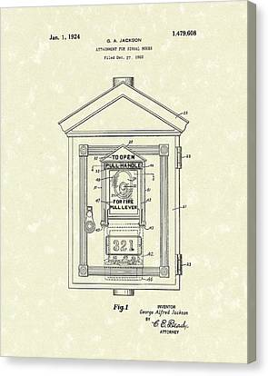Signal Box 1924 Patent Art Canvas Print