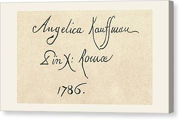Signature Of Maria Anna Angelika Or Canvas Print by Vintage Design Pics