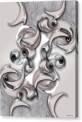 Canvas Print featuring the digital art Significance And Shape by Carmen Fine Art