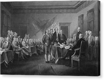 President Adams Canvas Print - Signing The Declaration Of Independence by War Is Hell Store