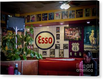 Signs At The Diner Canvas Print