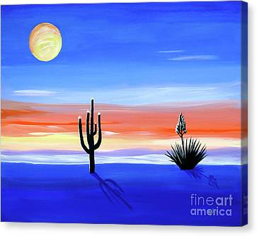 Canvas Print featuring the painting Silellnt Shadows by Phyllis Kaltenbach
