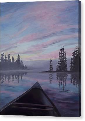 Canoe Canvas Print - Silence  by Mary Giacomini