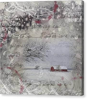 Silence Canvas Print by Nadine Berg