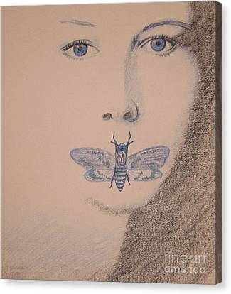 Silence Of The Lambs Canvas Print by Kimberly Witz