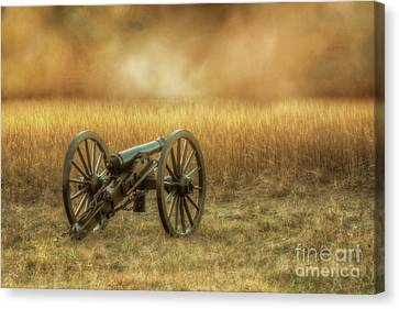 Silent Cannon At Gettysburg Two Canvas Print